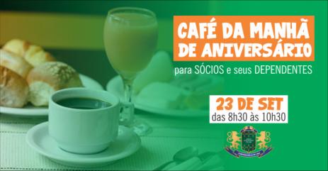Jiqui vai oferecer um café da manhã para os sócios no dia 23/09.